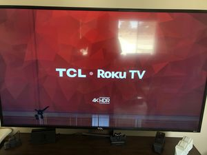 Tcl 65 inch 4K with cracked screen for Sale in Hesperia, CA