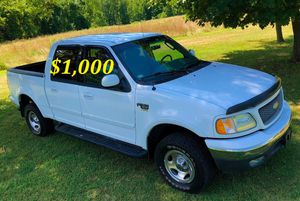 🟢💲1,OOO For sale URGENTLY this Beautiful💚2002 Ford F150 nice Family truck XLT Super Crew Cab 4-Door Runs and drives very smooth V8🟢 for Sale in West Haven, CT