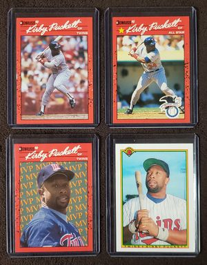 4 Kirby Puckett Baseball Cards for Sale in Westland, MI