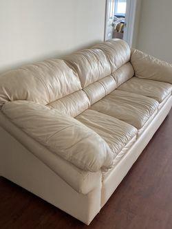 Beige Lether Sofa for Sale in Miami,  FL