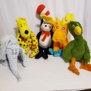 Dr Suess Kohls Cares 5 Plush Stuffed Animal character Lot. for Sale in La Grange Park, IL