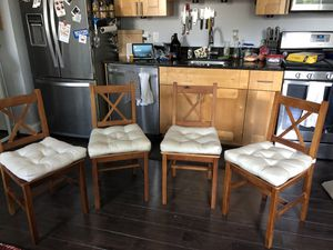 Set of four kitchen table chairs for Sale in Washington, DC