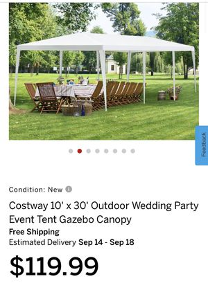 10' x 30' Outdoor Wedding Party Event Tent Gazebo Canopy for Sale in Bakersfield, CA