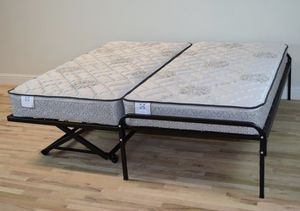Twin Pop Up Trundle Bed and Twin Frame Set for Sale in Tampa, FL