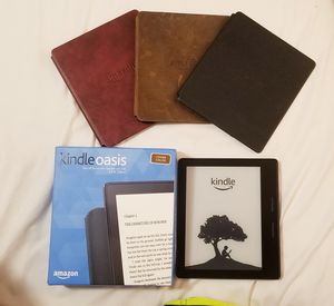 Kindle Oasis 1 with 3 Charging Covers for Sale in Philadelphia, PA