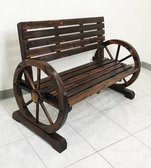 """New $100 Large 50"""" Wooden Wagon Bench Rustic Wheel for Patio Garden Outdoor 50x23x34"""" for Sale in Whittier, CA"""
