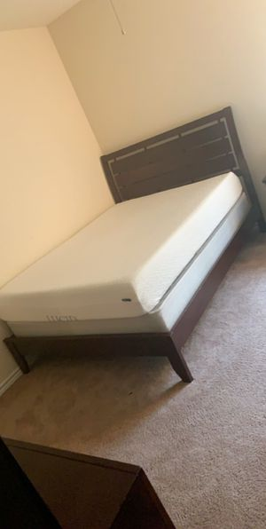 Queen size bed frame and dresser set (top mattress NOT included) for Sale in Austin, TX