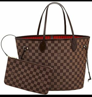 Beautiful Brown Checkered Bag with wristlet for Sale in Glendale, AZ