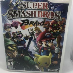 Super Smash Bros Brawl Nintendo Wii for Sale in Corona, CA