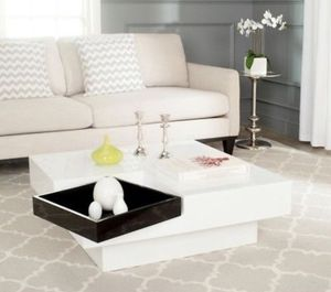 White and Black Coffee Table with movable tray for Sale in Houston, TX