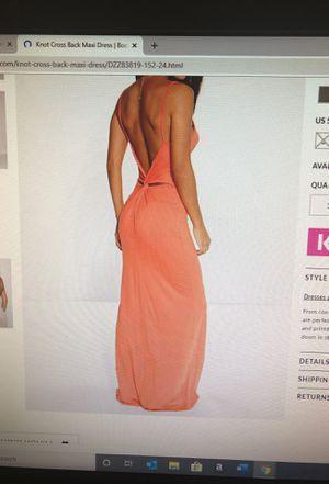 BooHoo Knot Back Maxi Dress *NEVER WORN* for Sale in Virginia Beach, VA