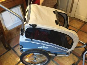 Dog stroller and can convert into bicycle stroller for Sale in Seffner, FL