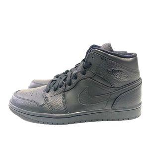 Air Jordan 1 Mid Triple Black 2020 Shoes 554724-091 Mens Size 8 New for Sale in San Antonio, TX