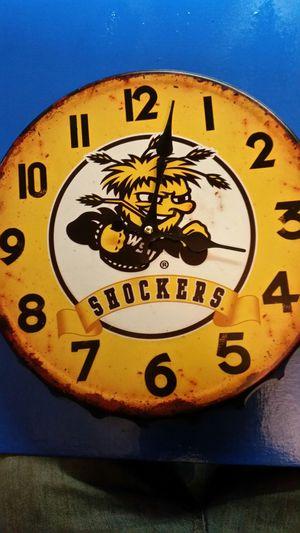 Shockers bottle cap clock for Sale in Wichita, KS