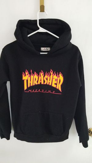 Boy's black hoodie THRASHER for Sale in Toms River, NJ