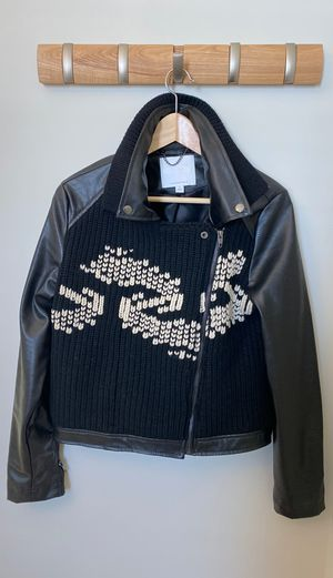 ANTHROPOLOGY - Faux Leather & Sweater Jacket (Medium) for Sale in Washington, DC