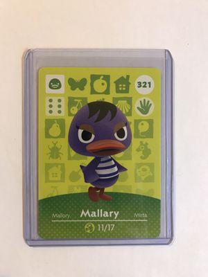 Animal Crossing Amiibo card Mallary 321 for Sale in Boston, MA
