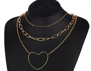Heart Long Gold Multi-layer Chain Choker Sweater Necklace for Sale in Long Beach, CA