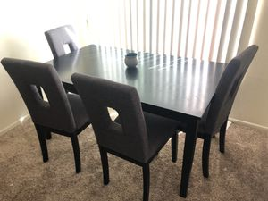 Black kitchen table with grey and black chairs for Sale in Escondido, CA