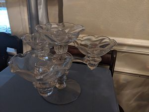 Vintage glass candelabra for Sale in St. Louis, MO