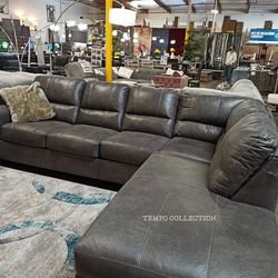 NEW, LEATHERETTE L SECTIONAL.STONE COLOR. for Sale in Santa Ana,  CA