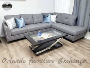 $899 FREE DELIVERY! BRAND NEW GREY SECTIONAL SOFA for Sale in Oviedo, FL
