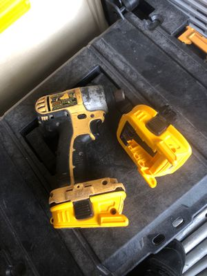 Dewalt impact and two 18v to 20v adapters for Sale in Suttons Bay, MI