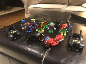 Lego Duplo Superheroes Lot - Batman, Superman, Spiderman, Joker, Robin, Poison Ivy for Sale in Tuckahoe, NY
