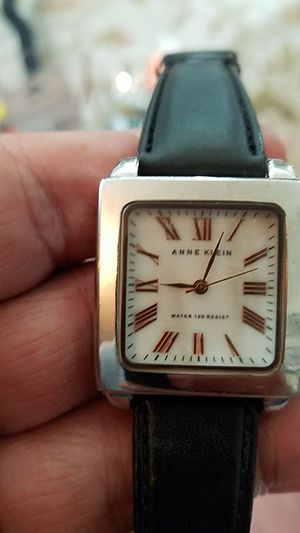 Anne Klein water resistant ladies watch with leather band for Sale in Puyallup, WA