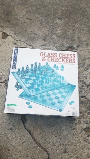 Glass chess board and checkers for Sale in Carson, CA
