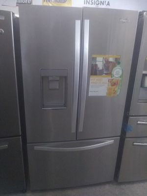 Whirlpool stainless steel french door refrigerator home and kitchen appliances for Sale in San Luis Obispo, CA