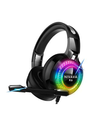 Nivava K6 pro gaming headset For PS4, Xbox One, PC Headphones With Mic LED for Sale in Hamburg, NY
