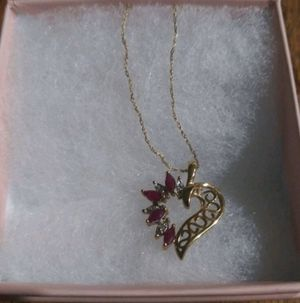 10k ruby and diamond necklace for Sale in Oxnard, CA