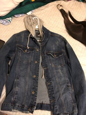 JEAN JACKET WITH HOODY for Sale in East Riverdale, MD