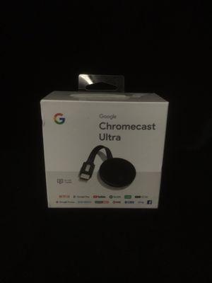 Chromecast ultra STREAMING MEDIA for Sale in Turlock, CA