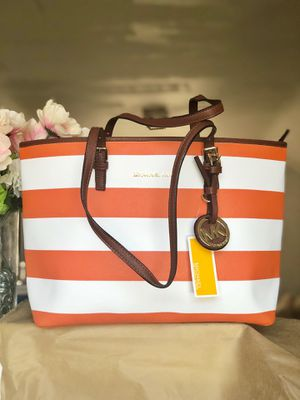 Striped MK Jet Set Tote for Sale in US