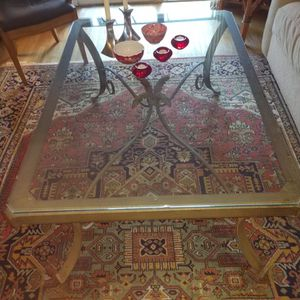Large Glass Top Coffee Table for Sale in Greenwich, CT