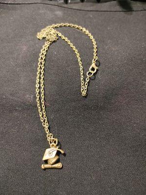 "Bronze ""Grad Cap"" Charm Necklace for Sale in Lewisville, TX"