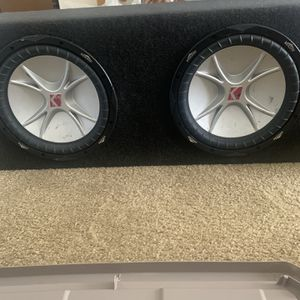 """2 12"""" Subwoofers And Box for Sale in Rancho Cucamonga, CA"""