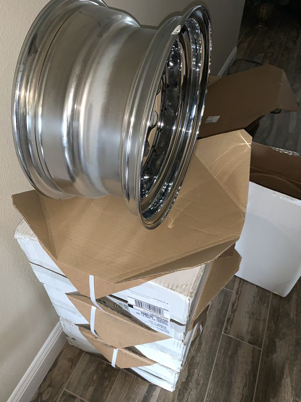 NEW Chrome Pacer Wheels Rims - Set Jeep Truck or Car