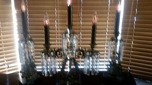 Brass Electric 3 piece set Candelabras for Sale in Plainfield, IL