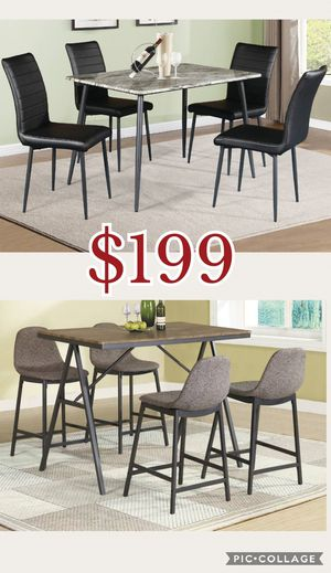 5pcs counter Height dining table set, 5pieces dining table set, table set, table, chairs, bar stool for Sale in Los Angeles, CA
