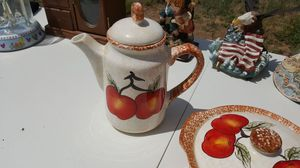 Apple tea creamer and covered dish for Sale in Tijeras, NM