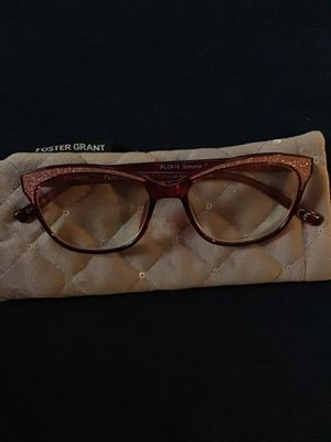 New Foster Grant Reading Glasses 1.50 mm Rose Glitter for Sale in Thomaston, CT
