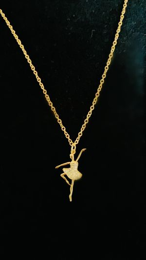 Gold plated ballerina necklace for Sale in Santa Monica, CA