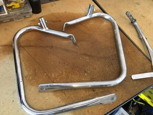 2012 Roadking kickstand and bag guards for Sale in Charlotte, NC