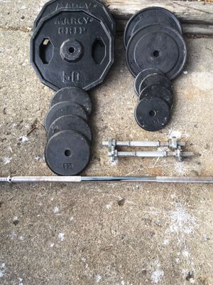 Standard steel weights and bars for Sale in Columbus, OH