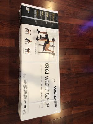 Weider XR 6.1 Multi-Position Weight Bench with Leg Developer and Exercise Chart for Sale in Manassas Park, VA
