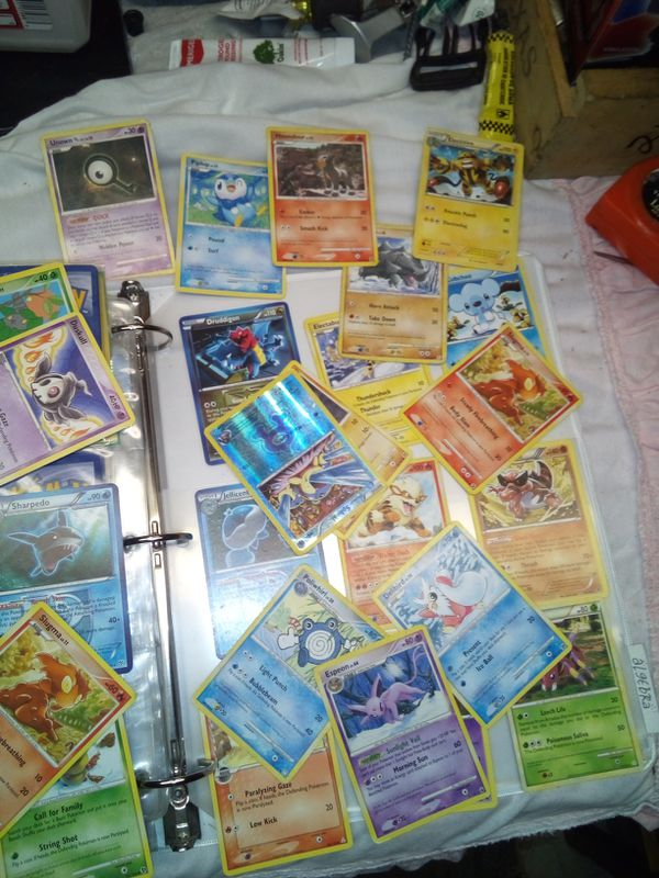 Pokemon holographic cards and others