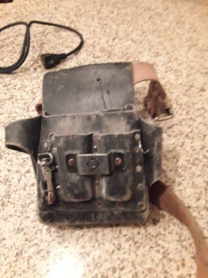Leather Greenlee electrician pouch for Sale in Chandler, AZ
